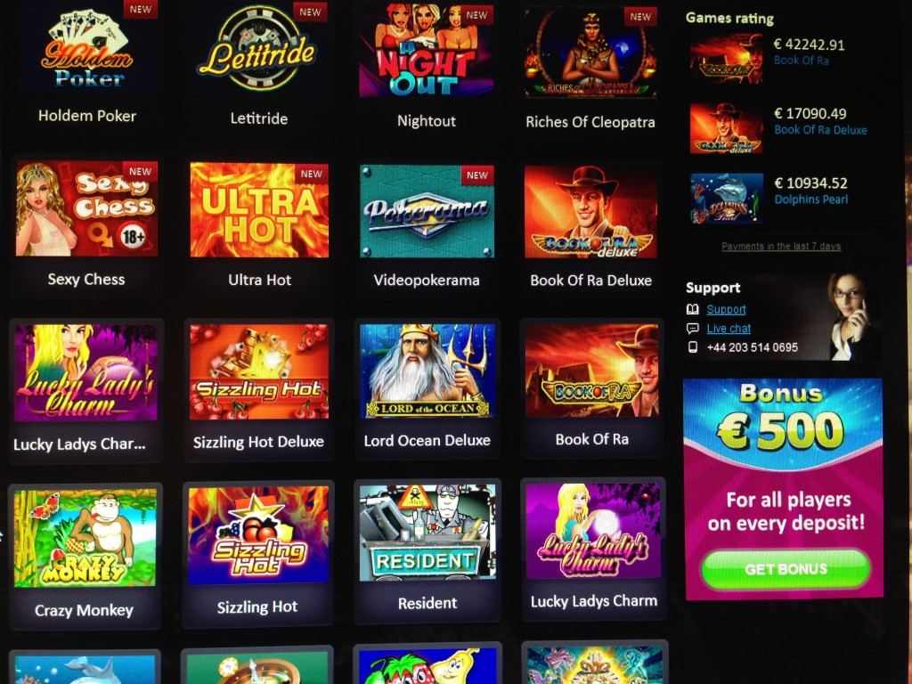 deposit online casino book or ra